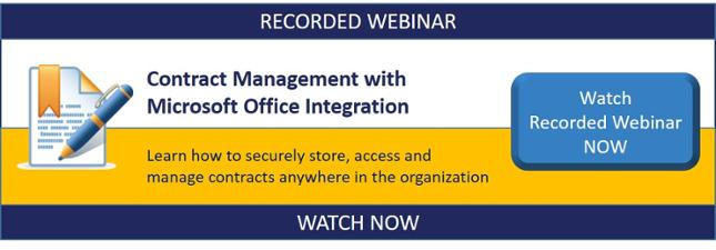 Contract Management Webinar